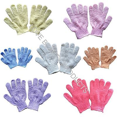 1 PAIR Body Exfoliating Spa Bath Shower Glove Mitt HEAPS OF COLOURS