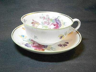 SPODE COPELAND FLORAL CUP AND SAUCER SET R2951