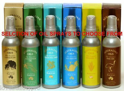 Australian Massage Oil Spray 125ml Vitamin E Emu Tea Tree Eucalyptus Lanolin
