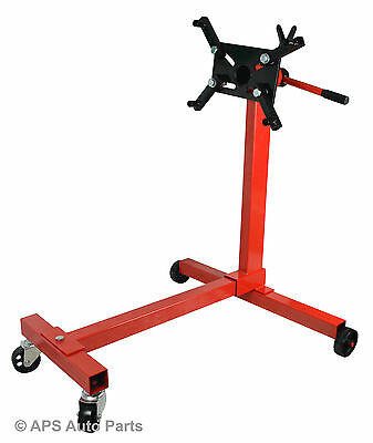 1000lbs 450kg Car Engine Gearbox Transmission Jack Stands Swivel Mount Support