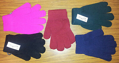 3 Pairs Kids Magic Acrylic Knitted gloves  full finger Stretchy School ass cols