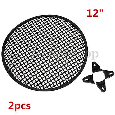 "2x 12"" Car Auto Audio Speaker Sub Woofer Grill Cover Guard Defend Protector"