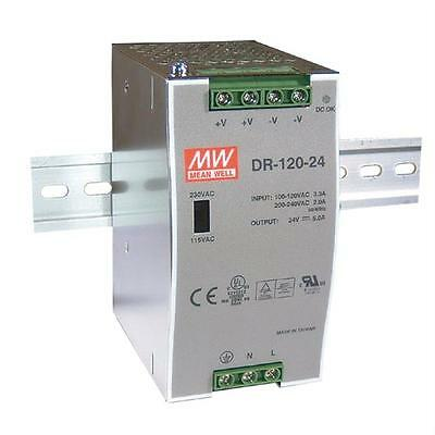 Din-Rail power supply 120W 12V 10A ; MeanWell, DR-120-12