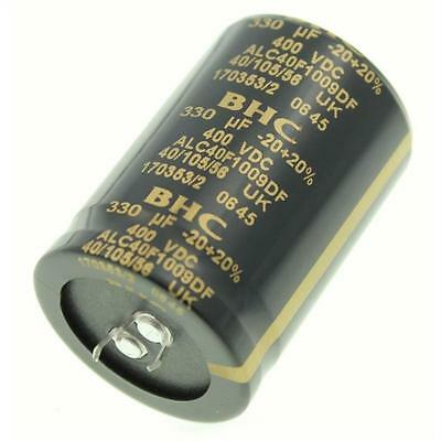2x Snap-In Electrolytic Capacitor 330µF 400V 105°C ; ALC40F1009DF ; 330uF