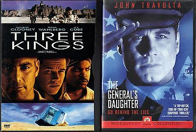 Three Kings (DVD, 2000, S. E. Letterboxed) & The General's Daughter (DVD, 1999)