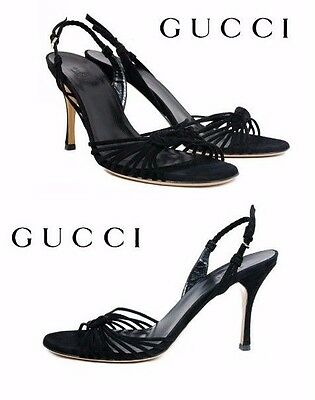 5c46427fd348 NEW GUCCI TOM Ford Black Leather Shoes Sandals 9.5 -  795.00
