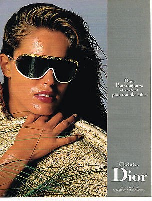 ADVERTISING 064 CHRISTIAN PUBLICITE lunettes collection 1995 DIOR TpwWHdqC