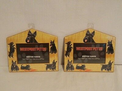 2 SCOTTY DOG SCOTTISH TERRIER PHOTO PICTURE FRAME WESTPORT PET CO. NEW