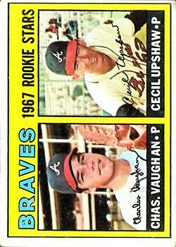 1967 Topps #179 Rookie Stars/Charles Vaughan RC/Cecil Upshaw RC - VG