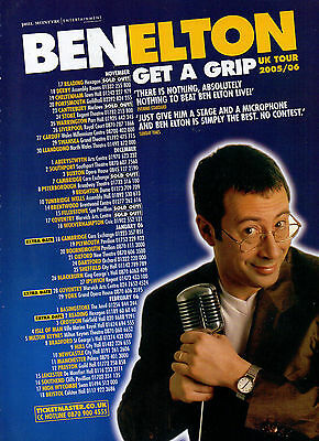 Ben Elton-2005 magazine advert