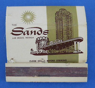 Vintage Matchbook Sands Casino Las Vegas Nevada Hughes Resort