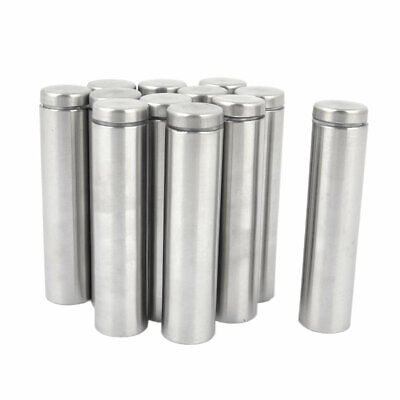 12pcs Stainless Steel Advertisment Nails Glass Wall Connector Standoff 80mm Long