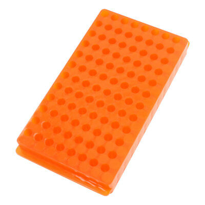 Double Sided Orange Polypropylene 96 Position Centrifuge Tube Pipette Vial Stand