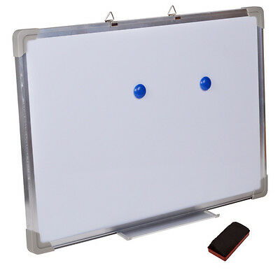"24""x16"" Single Side Magnetic Writing Whiteboard Dry Erase Board Office W/ Eraser"