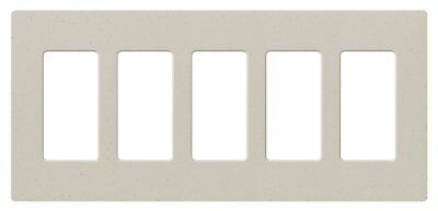 Lutron Sc-5-Ls Limestone Diva Satin Colors 5-Gang Designer Screwless Wallplate
