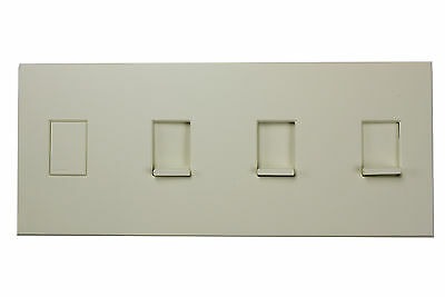 Lutron Nt-Ksss-Nfb-Al Almond Nova T Combination Tapswitch & Slide Dimmer Plate