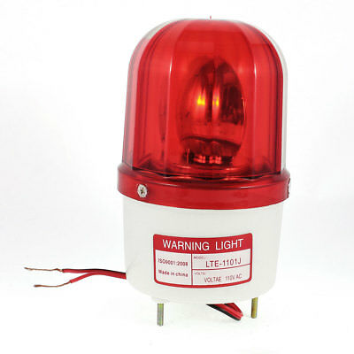 Industrial DC24V Flash Siren Emergency Rotary Sound Alarm Warning Light Red
