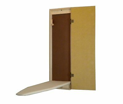 Wall Mount / Recessed Raw Wood Built-In  Ironing Board