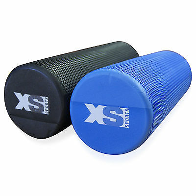 Textured Grid Yoga Exercise Eva Foam Roller-Trigger-Gym-Pilates-Physio-Massage