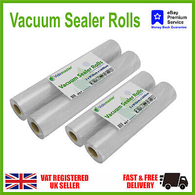 20cm & 28cm Textured Vacuum Food Sealer Rolls 4 bags - Choose size - from £5.95