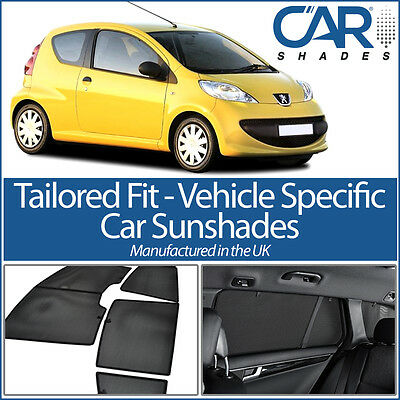 Peugeot 107 3dr 05- UV CAR SHADES WINDOW SUN BLINDS PRIVACY GLASS TINT BLACK