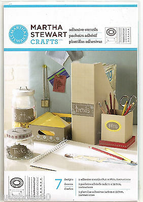 MARTHA STEWART CRAFTS Adhesive Stencils Pretty Borders 7 Designs
