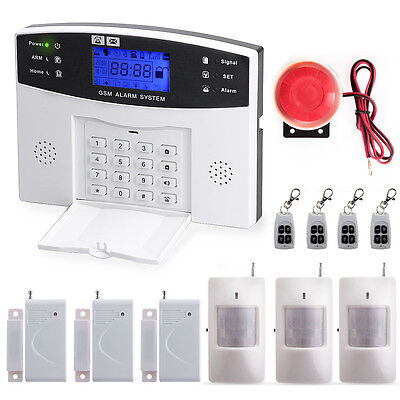 Wireless GSM SMS Home Burglar Security Alarm System Detector Sensor Call