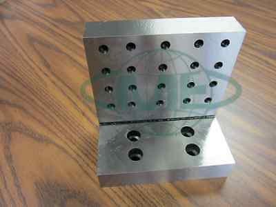 "ANGLE PLATE 6x6x4x1-1/4"" Precision Ground w. tapped holes 0.0002"" #PGAP-664-New"
