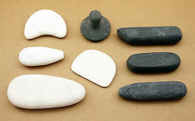 HOT STONE MASSAGE: Hot & Cold (Basalt & Marble) Working/Trigger Point Stone Set