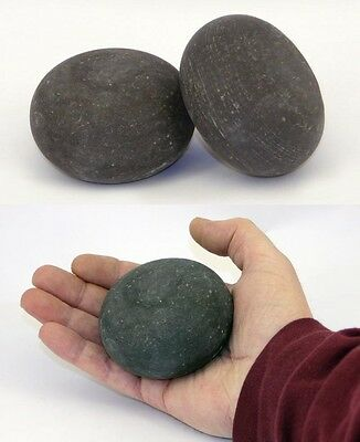 HOT STONE MASSAGE: Pair of Basalt Palm Stones