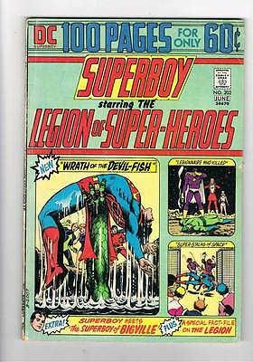 Superboy # 202  100 page issue  Devil-Fish grade 3.5 Super Scarce Hot Book !!