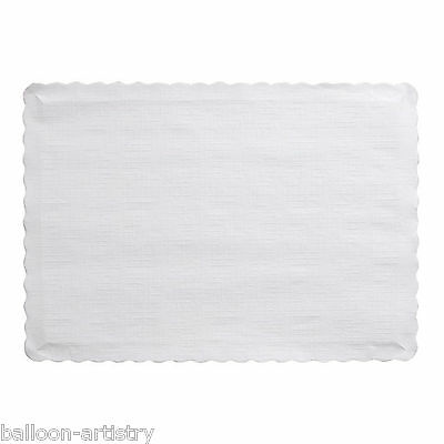 100 WHITE 24X36CM Christmas Wedding Birthday Party Paper Tablemats Placemats