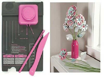Flower Punch Board Dimensional Paper Flowers & Leaves Template Maker 71342-5