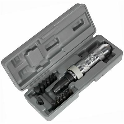 """Sealey AK208 15pc Impact Driver Set 1/2"""" Drive Screwdriver Hex Slotted Phillips"""
