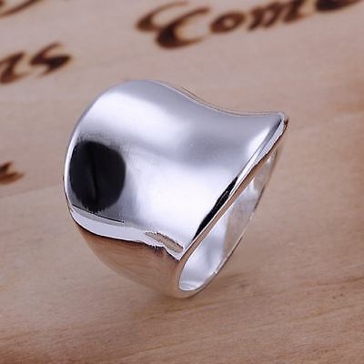 beautiful Fashion 925 silver MEN Women Thumb solid Ring jewelry hot sale SIZE 8