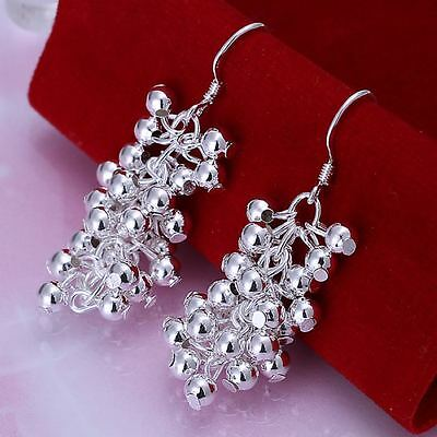 beautiful Fashion cute nice Silver Plated Women pretty bead charm Earring E08
