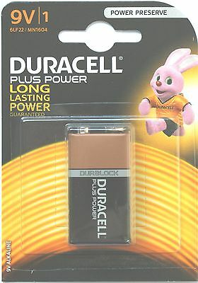 1 Box of 10 DURACELL PLUS PP3 (PP 3) MN1604 9 VOLT BATTERIES