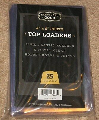 Pack of 25 CBG 4 x 6 Postcard / Photo Rigid Hard Plastic Topload Holders 4x6