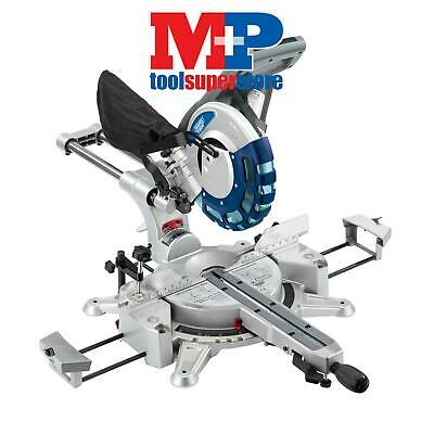 Draper 28043 250mm Double Bevel Sliding Compound Mitre Saw with Laser Cutting Gu
