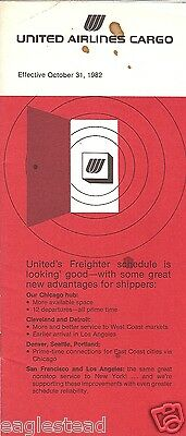 Airline Timetable - United - Cargo - 31/10/82
