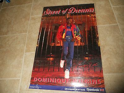 Dominique Wilkins Signed Autographed Hawks NBA Basketball Poster PSA Guaranteed