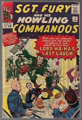 Sgt Fury And His Howling Commandos #4 Marvel 11/63 Lord Ha-Ha Jack Kirby Fine+