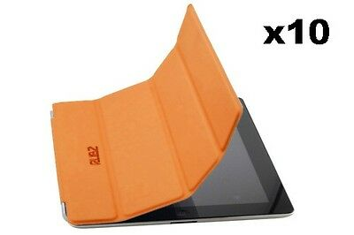 Rubz iPad2 Slim Orange Luxury Whiz Cover Case for Apple iPad 2 Tablet Pack of 10