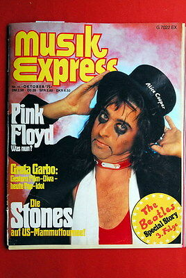 Alice Cooper Cover Pink Floyd 1975 Rolling Stones Poster German Magazine