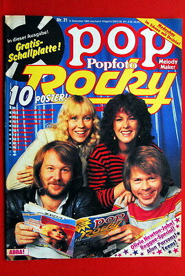Abba On Cover Bob Marley 1980 Olivia Newton John Rare German Magazine