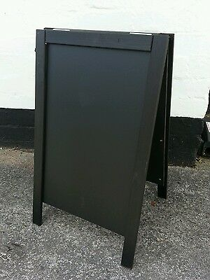 Black Wooden A Board - Sandwich - Blackboard - Pavement Sign - 70 x 40cm