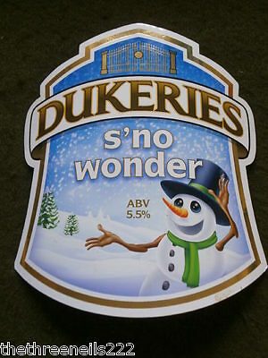 Beer Pump Clip - Dukeries S'no Wonder