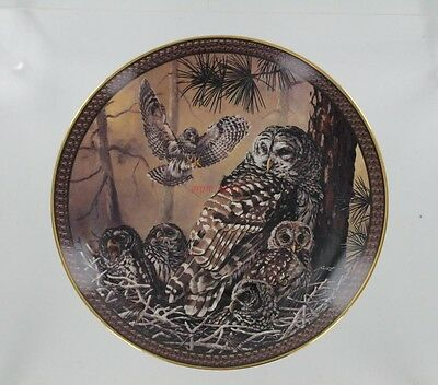 Bradford Exchange Plate  Family Circles - Barred Owl Famly - Third Issue
