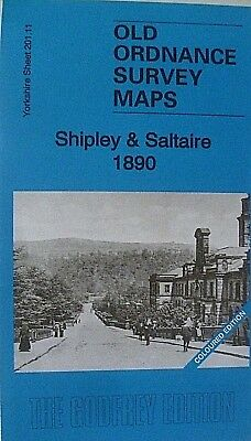Old Ordnance Survey Map Shipley & Saltaire 1890 Yorks Coloured Ed  S201.11 New