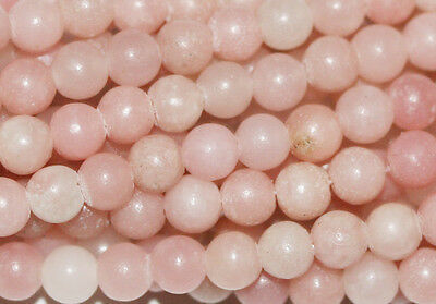 """14"""" Pink Opal  Round Gemstone Beads 4mm Loose GREAT"""
